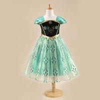 cotton dress materials - 5pcs Frozen dresses Elsa Anna dresses Long sleeve baby girl dress material cotton Size cm