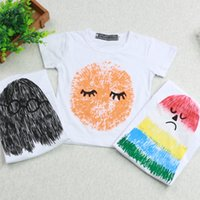 Wholesale 2016 ins hot sale baby toddlers boys girls rainbow glass t shirt tops tees short sleeved tees punk written tshirts free ups fedex ship