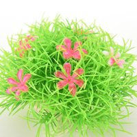 Wholesale Aquarium Decor Decorations Ornaments Plastic Artificial Flower Water Plant Grass Weeds Carpet for Fish Tank PC