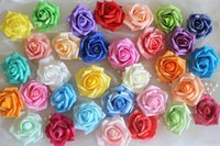 Wholesale simulation roses cm foam PE fake flower heads Cartoon bouquet of DIY materials wedding decoration