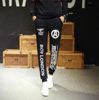 baggy pants cartoons - New Pantaloni Hip Hop baggy Harem Dress Pants Men Joggers Sweatpants Trouser Black Print Sport Boy London Tracksuit Cargo jogging pants