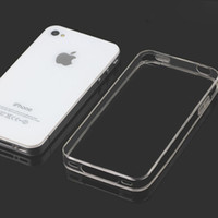 iphone 4 clear case - 100pcs For iphone4s Ultra Thin MM Transparent Crystal Clear Soft Rubber TPU Silicon Case Phone Cases For iphone Case