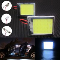 Wholesale 10pcs COB LED Car Reading Lights T10 BA9S DC V White SMD Festoon Dome Light Luggage Compartment Lights