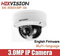 Wholesale Hikvision mm lens MP IP Camera DS CD2132F IS V5 With TF Card Slot mini Dome Network CCTV Camera DS CD2132 I Onvif