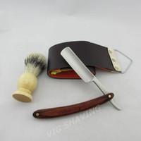Wholesale Promotion price Straight Razor Stainless Steel Barber Razor shaver Folding Knife shaving kits