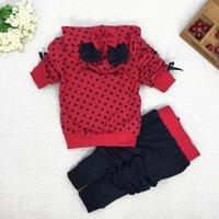 Wholesale Baby girls clothing sets cartoon minnie mouse hoodies pant set pieces children long sleeve sequined clothes suit cotton