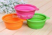 Wholesale Silicone Pet Folding Bowl Portable Dog Bowl Cat Folding Travel Water Bowls Food Dish