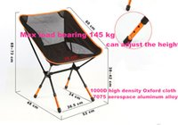 adjust chair height - Beach chairs Portable Folding Camping Stool Chair Max load bearing kg silla plegable can adjust the height
