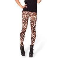 2015 Fitness Legging BABY GIRAFFE HIGH-WAISTED LEGGINGS Femme Leggings Leopard Leggins Drop Livraison S106-611