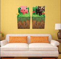 Wholesale 2015 Newest D Walls Minecraft Wall Stickers Creeper Decorative Wall Decal Cartoon Wallpaper Kids Party Decoration Christmas Exclusive Sale