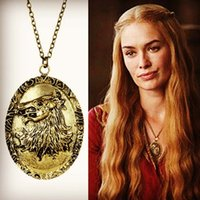 Wholesale 2015 Game of Thrones Ghost Cersei Lannister necklace pendant jewelry accessories C10507