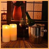 battery operated art light - led candle light wax Paraffin candle flameless flash wick led candle electric candle romantic Battery operated romantic Wedding