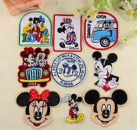 Wholesale cm Cartoon Cloth Patches Mickey Mouse Mickey Minnie Garment Applique DIY Accessories
