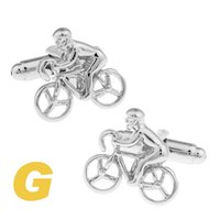 bicycle cufflink - High Quality New Classic Silver Copper Mens Wedding Cufflinks Novelty Rare Fancy Bicycle Clean Cloth
