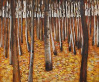 Oil Painting beech panel - Art Painting Gustav Klimt oil on Canvas Beech Forest I Room decoration Hand painted High quality