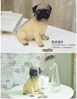 Wholesale Creative cute puppy resin piggy bank piggy bank saving box coin can change the storage tank piggy bank gift