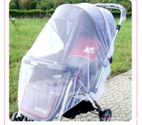 Wholesale Baby Large Size Cart Stroller Pram full cover side whipstitch encryption mosquito nets Buggy Pram Protector Pushchair