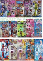 Wholesale Mixed Cartoon Monster High Sofia Princess Big Hero Spider Man Minnie Projection watch The patterns of the different for kid best gift TB700