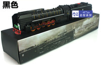 Wholesale brand Vintage alloy train model of classical steam locomotive acousto optic toy with sound and light