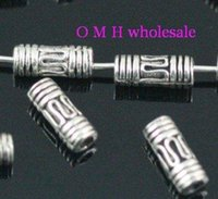 bead tube jewelry - OMH Free ship tibetan silver tube spacer beads Jewelry metal beads X3mm ZL135