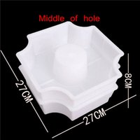 New Other Garden Buildings Brick Path Mold White Middle Of Hole SHape Garden Path Concrete Plastic Brick Mold Paving Pavement Walkway Cement Brick Molds
