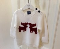 baby deer for sale - Xmas hot sale for spring autumn winter kids children s cotton sweater baby toddlers boy s girl s pullover milu deer sweaters outerwears