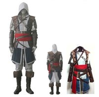 assassin creed uniform - EMS DHL Adult Men s male Assassins Creed IV Black Flag Edward Kenway costume cosplay Halloween party Anime Uniform Suit