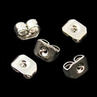 Chapeaux Prix-1000pcs -DIY Earring Findings Bijoux oreille 4x5mm Clous papillon Backs Boucles d'oreilles Plugs Stopper Charms Earring Fit Faire DH-FRB010