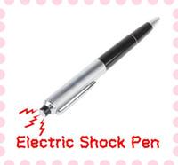Cheap Shock Gift Joke Trick Toy Ball Point Pen Fun Funny Electric Shock Pen Prank