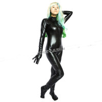 Cheap Faux Leather Full Body Harness Apparel Fake Latex Catsuit Women Fetish Bondage Costumes Female Sexy Straitjacket SM Game Teddy