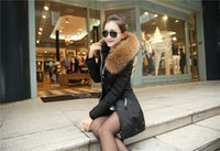 Wholesale Warm Luxurious fur collar Winter Women Jacket Coat Thicken Slim Female Fur Collar Long Down Coat Casual Parka Plus S XL color choices