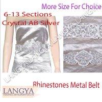 best ab belts - Best Quality Netherlands Metal Belts Sections Silver Gold Base Rhinestones Crystal AB Belt For Wedding Dress