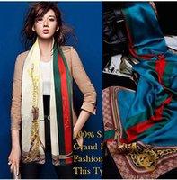 Wholesale 2014 New brand design scarf Shawl women long silk scarves CM CM fashion wrap shawl female