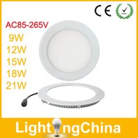 Wholesale New Arrival LED Panel Light Round Square W W W W W Ceiling Light Warm White Cool White LED Downlights With Fast Delivery