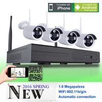 Wholesale 720P Wireless CCTV System ch Powerful Wireless NVR IP Camera IR CUT Bullet CCTV Camera Home Security System Surveillance Kits