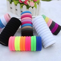 Wholesale 100pcs Candy Colored Hair Holders High Quality Rubber Bands Hair Elastics Accessories Girl Women Tie Gum