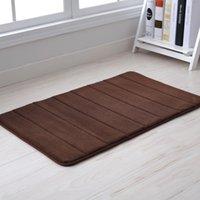 non slip bath mat - 40 cm Brown Color Microfiber Memory Foam Bath Shower Mat Doormat Water absorbing Non slip Rug