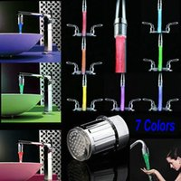 Wholesale Hot LED Water Faucet Light Colors Changing Glow Shower Stream Tap