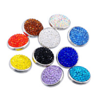 agate jewellery - New Rhinestone Polymer Clay Ginger Snap Buttons For Snap Button Jewellery Mixed mm K85674 button navy