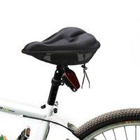 Negro Cromo 3D Ciclismo Saddle Cómodo almohadilla Soft Pad Bicycles Asiento de la cubierta para el ciclista del ciclo de Mountain Road B071