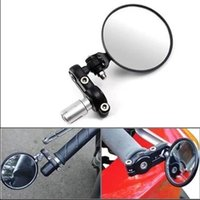 Wholesale BLACK quot FOLDABLE CONVEX ROTATION quot HANDLE BAR END MIRRORS FOR SPORTS BIKE