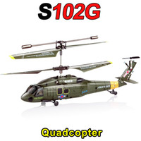 Wholesale 2015 SYMA S102G HM Metal and Plastic Helicopter Electric RC model CH Aircraft Aviation Military Plane Toys