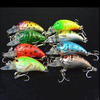 8pcs Haute Qualité Pêche leurre 4.5cm 4.2g petit poisson appâts artificiels vairon crankbait 6 # crochet yeux 3D de pêche
