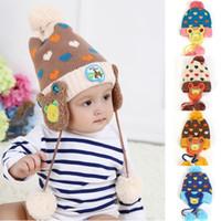 Wholesale Baby Hats Heart Design Baby Boy Winter Hats Children s Crochet Earflap Hats Caps