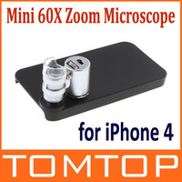 Wholesale Mini X Zoom Magnify Microscope Micro Lens for iPhone UV LED Light Hard Case Drop Shipping