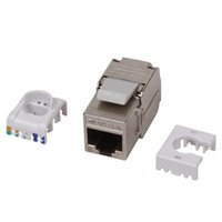 alloy category - Category RJ45 P8C Ethernet Module Network Coupler Port Position Wire Connector Category Shielded Information Module Zinc Alloy