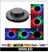 Wholesale LED Sunflower light Party Lights W led Mini Voice Activated Rotating RGB Stage CE RoHS Inpute V Black White Facade