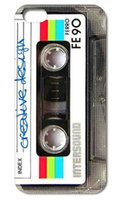 Plastic cassette case - 1PC cool Cassette style hard back cover case for iphone s S C plus