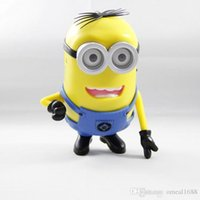 Wholesale DHL Cute DESPICABLE ME Portable Mini Speaker Micro SD TF Card USB Speakers FM Radio MP3 Player Amplifier table PC Louderspeaker C3 B14