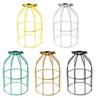 Wholesale Nordic style vintage industrial iron pendant light shade retro country solid geometric pendant light shade black color